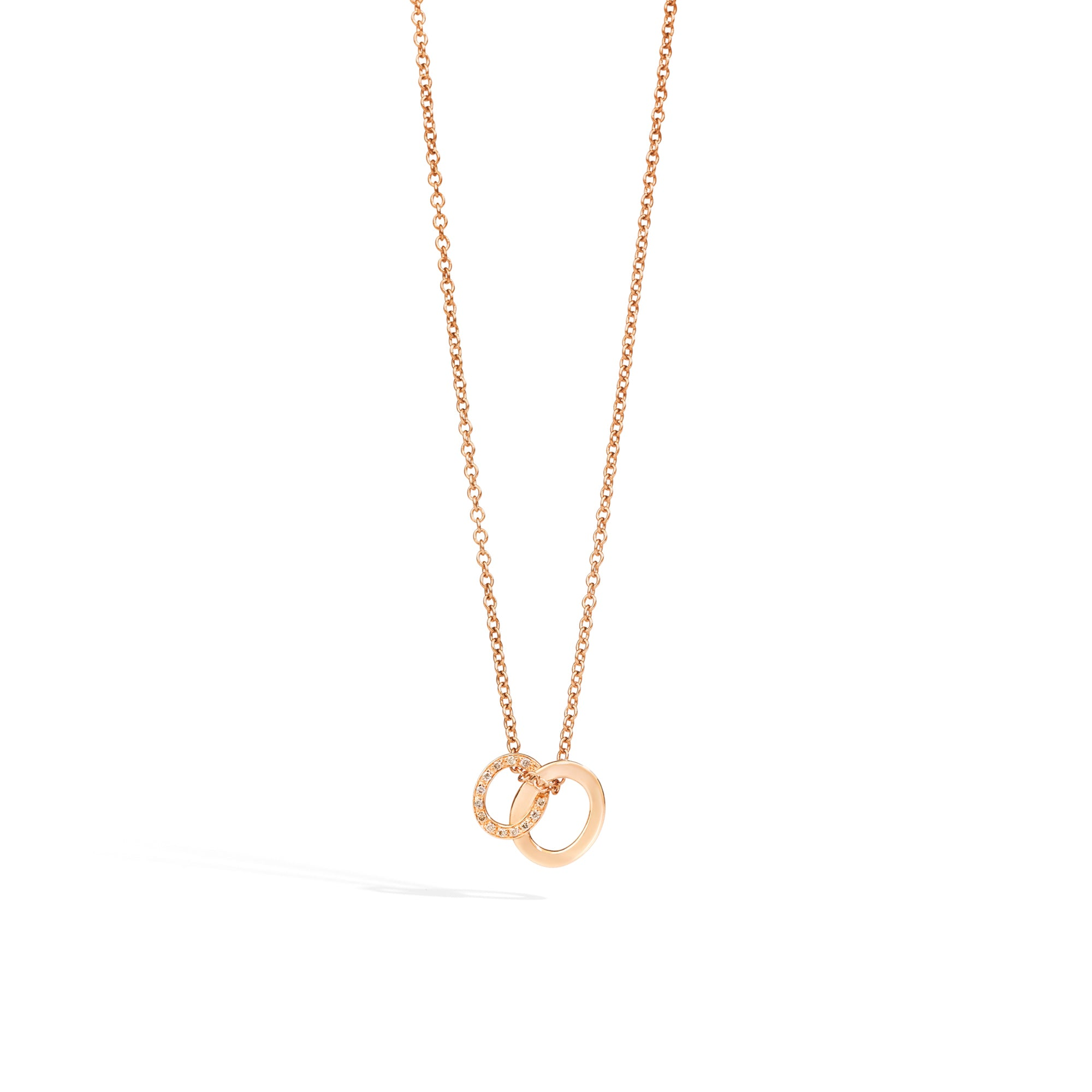 Brera Pendant with Necklace in 18k Rose Gold with Brown Diamonds - Orsini Jewellers NZ