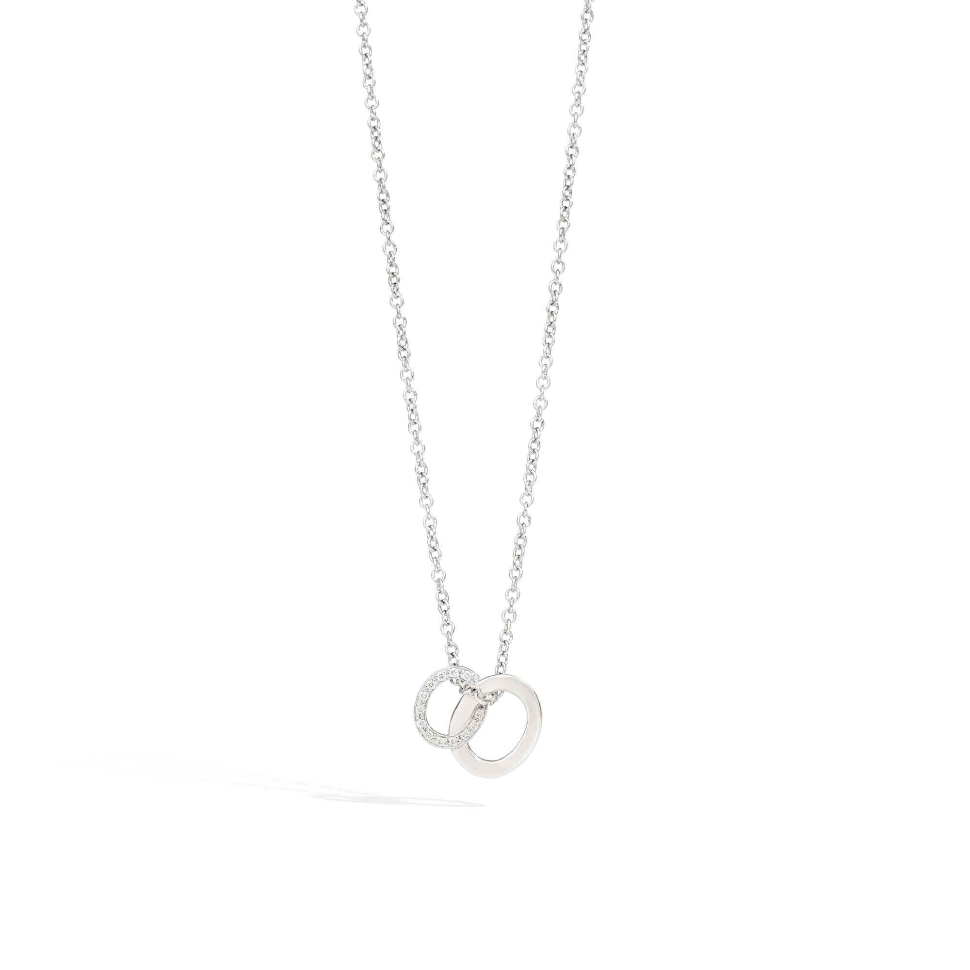 Brera Pendant with Necklace in 18k Rhodium-plated White Gold with Diamonds - Orsini Jewellers NZ
