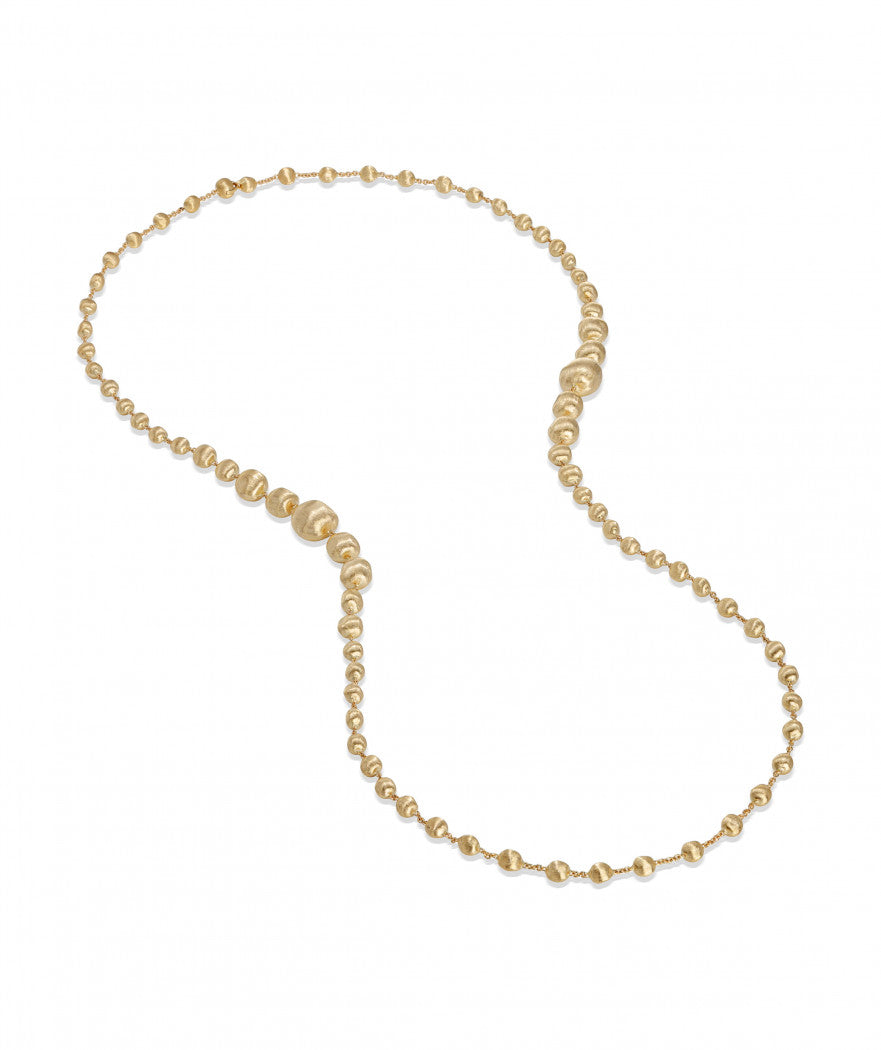 Africa Necklace in 18k Yellow Gold Graduated Double Wave - Orsini Jewellers NZ