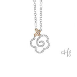 New Pop Butterfly 18k Gold and Diamond Pave Pendant