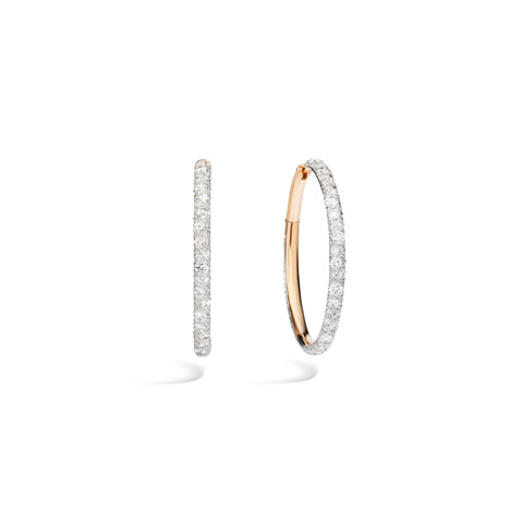 Tango Earrings in 18k Rose Gold with 134 Diamonds