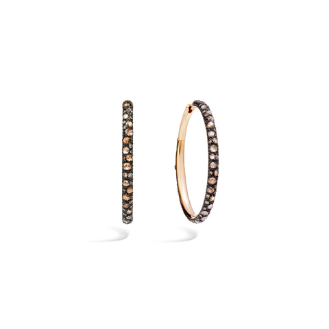 Tango Earrings in 18k Rose Gold with 134 Brown Diamonds