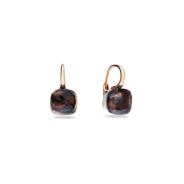 Nudo Smokey Quartz Large Rose Gold Earrings