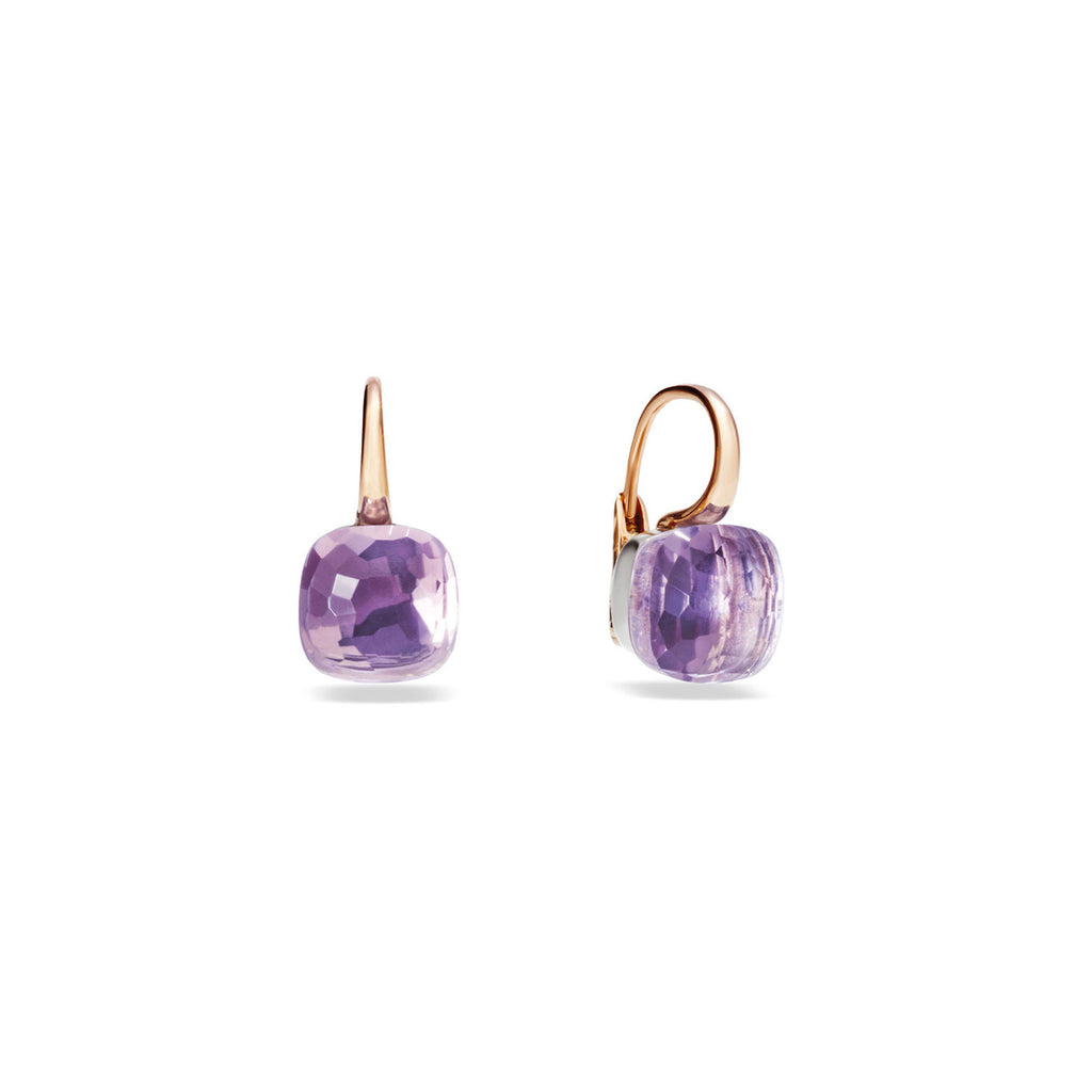 Nudo Light Purple Amethyst Large  Rose Gold Earrings