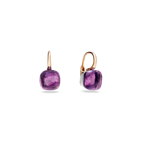 Nudo Amethyst Large Rose Gold Earrings