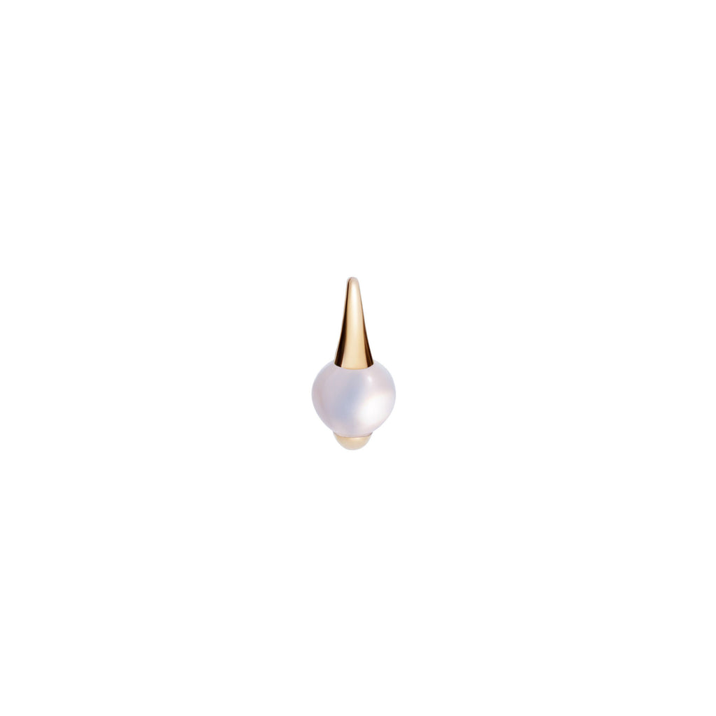 Mama Non Mama White Moonstone Gold Earrings