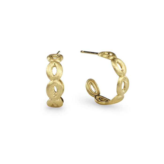 Siviglia Six Circle Hoop 18k Gold Hoop Earrings