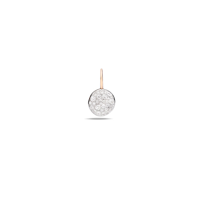 Sabbia Earrings in Rhodium-Plated Rose Gold with Diamonds (CT 0.39)