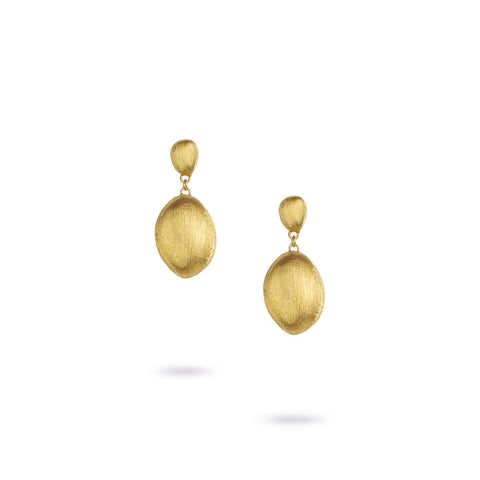 Confetti Double 18kt Gold Ball Drop Earrings