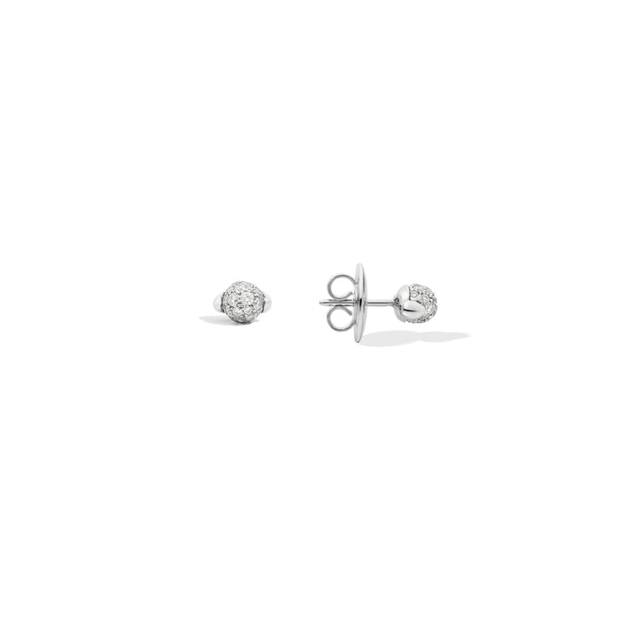 Mama Non Mama Earrings in 18K Rhodium-Plated White Gold, 36 Diamonds 0.24 ct