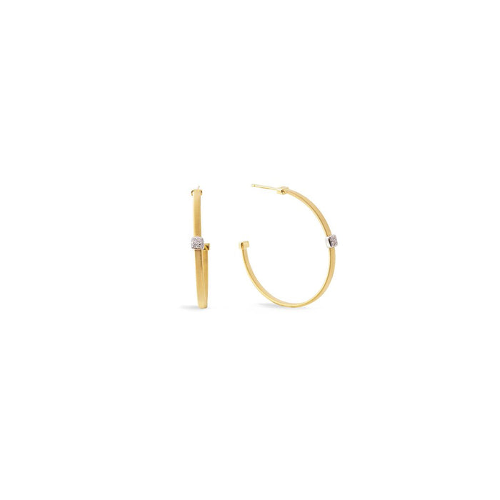 Masia 18K Large Diamond Hoop Earrings in Yellow Gold