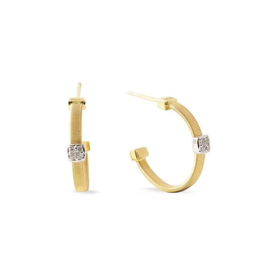 Masai Hoop Earrings in 18k Yellow Gold with Diamonds