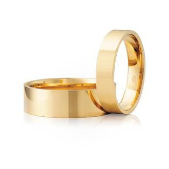 Classic Flat Shaped Wedding Ring