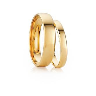 Classic Half Round Bevel Shaped Wedding Ring
