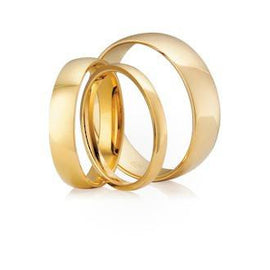 Classic Half Round Shaped Wedding Ring
