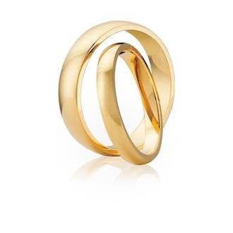 Classic High Dome Edge Shaped Wedding Ring