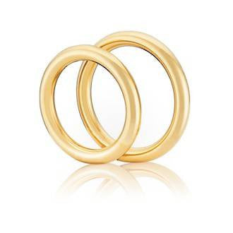 Classic Torus Shaped Wedding Ring