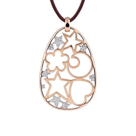 Icon Pendant in 18k Rose Gold with Diamonds