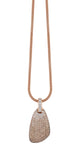 Dolce Vita Pendant in 18k Rose Gold with White and Brown Diamonds
