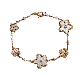 Palladio Bracelet in 18k Rose Gold with Mother of Pearls