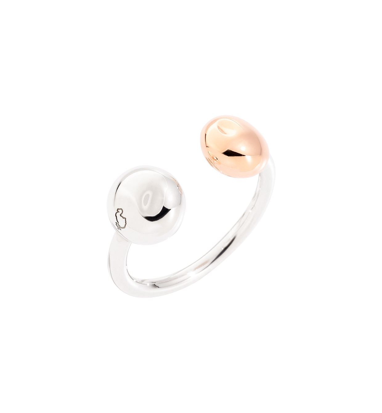DoDo Pepita Ring in Silver and 9k Rose Gold - Orsini Jewellers NZ