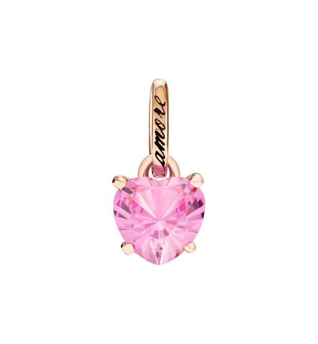 DoDo 100% Amore Charm in 9k Rose Gold with Synthetic Pink Sapphire