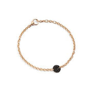 Sabbia Bracelet in 18k Rose Gold with Pave Black Diamonds