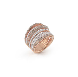 Serenata Ring in 18k Rose Gold with Diamonds
