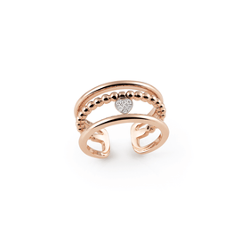 Palladio Ring in 18k Rose Gold with Diamonds