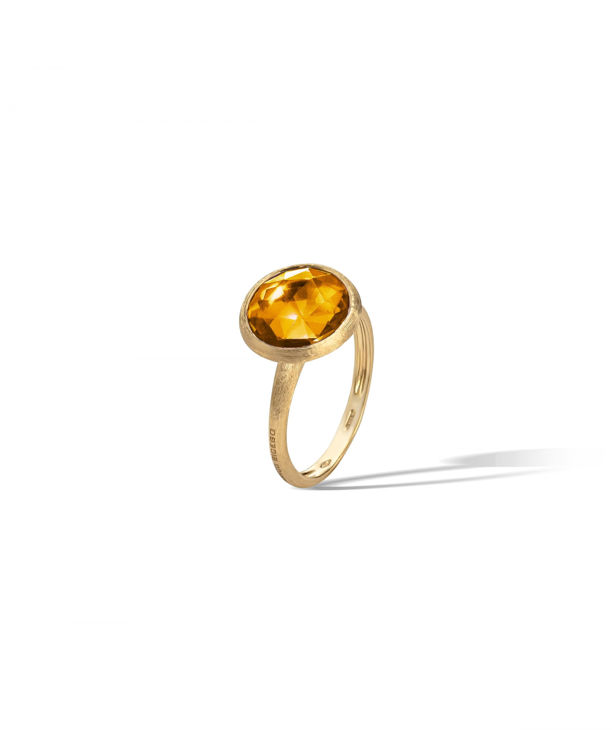 Jaipur Colour Ring in 18k Yellow Gold with Citrine Quartz Large - Orsini Jewellers NZ