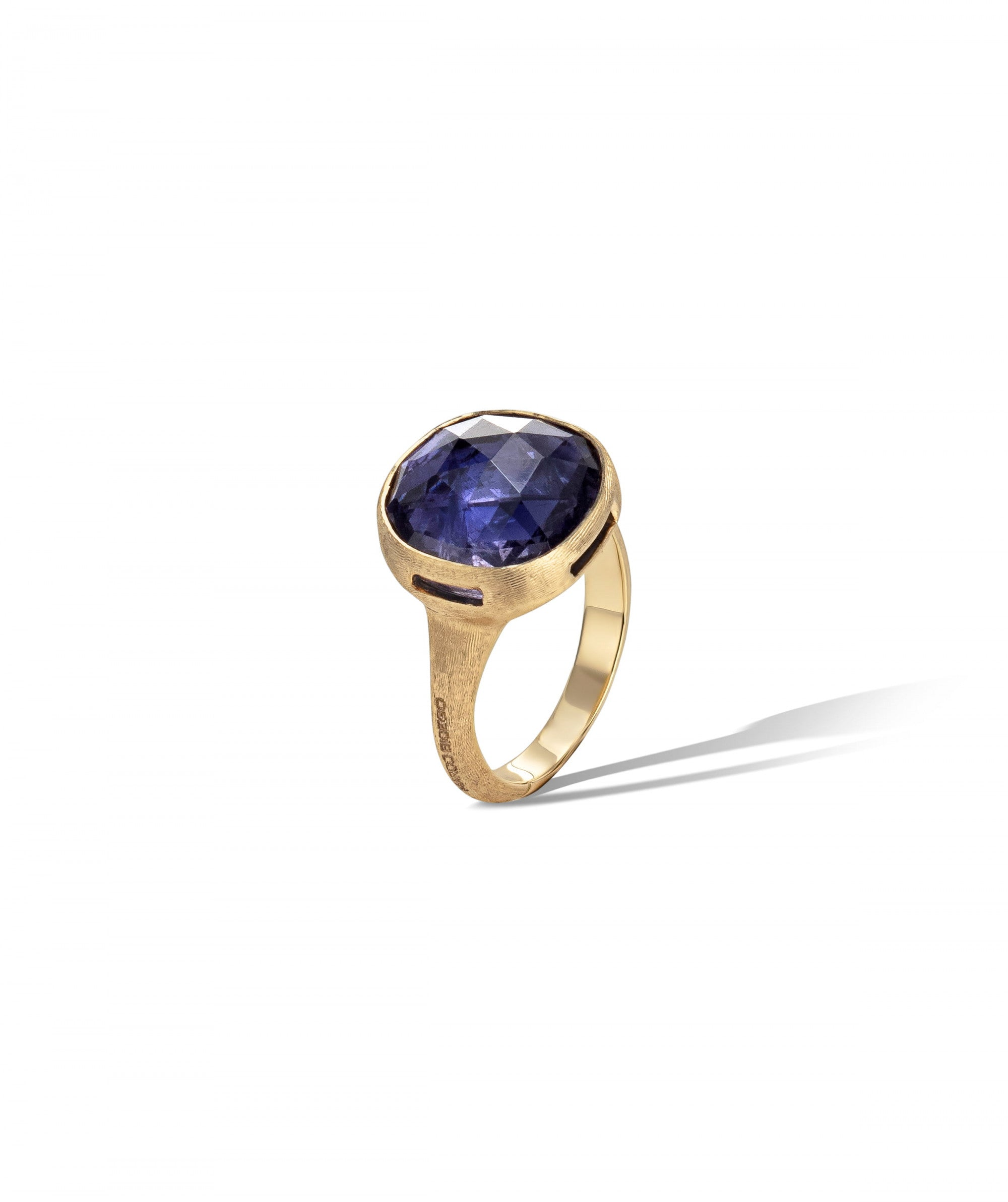 Jaipur Colour Ring in 18k Yellow Gold with Iolite Large - Orsini Jewellers NZ