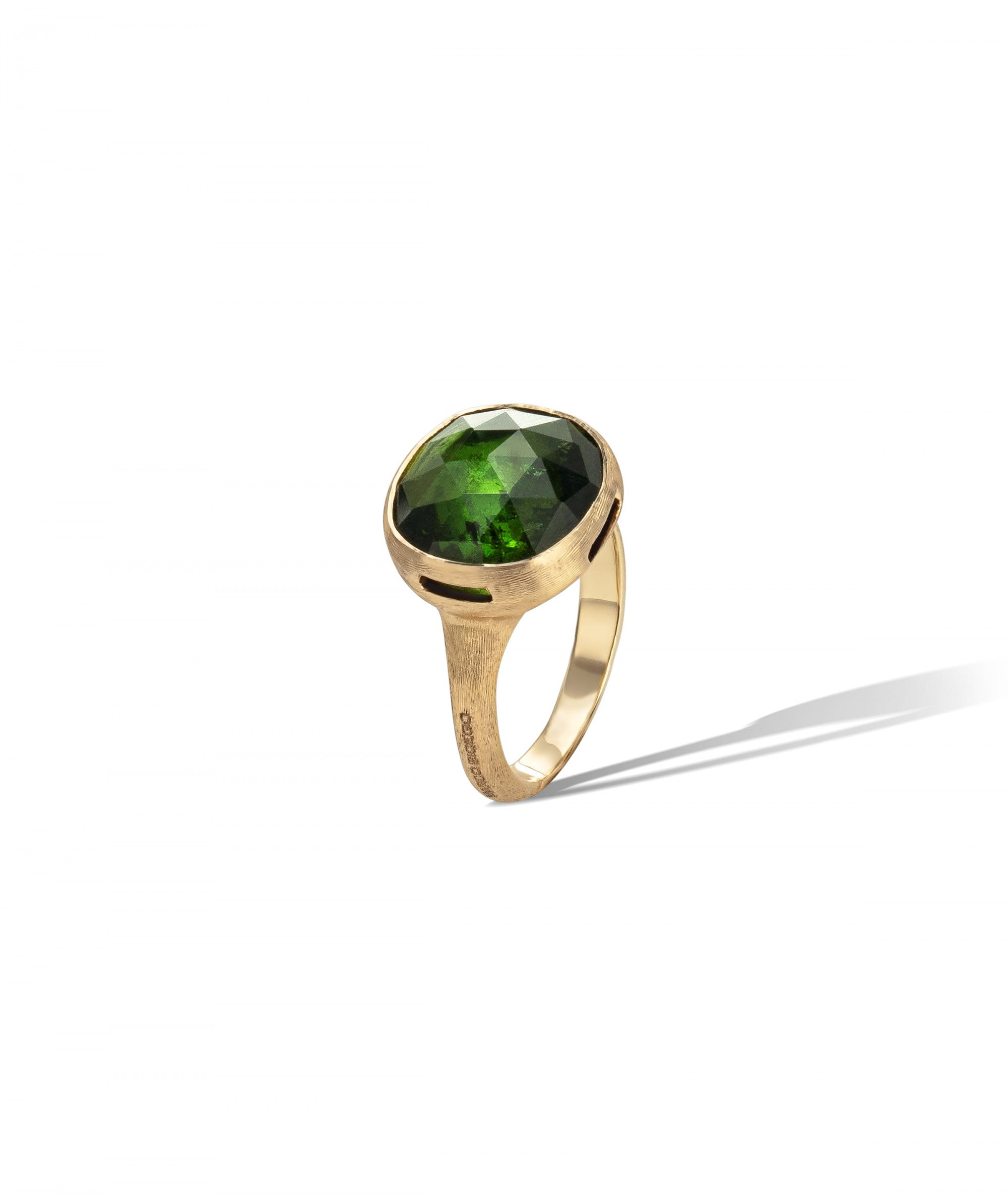 Jaipur Colour Ring in 18k Yellow Gold with Green Tourmaline Large - Orsini Jewellers NZ
