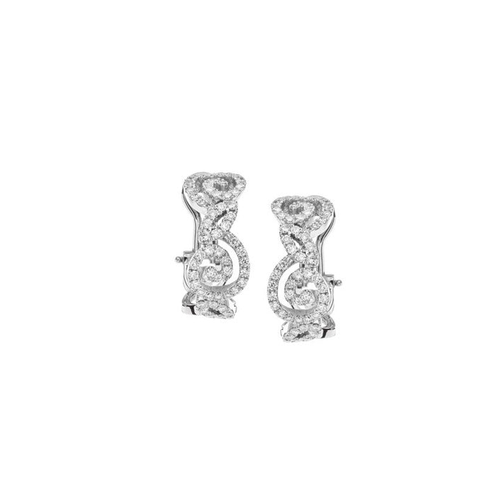 Riccio Earrings in 18k White Gold with Diamonds