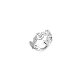 Riccio Ring in 18k White Gold with Diamonds