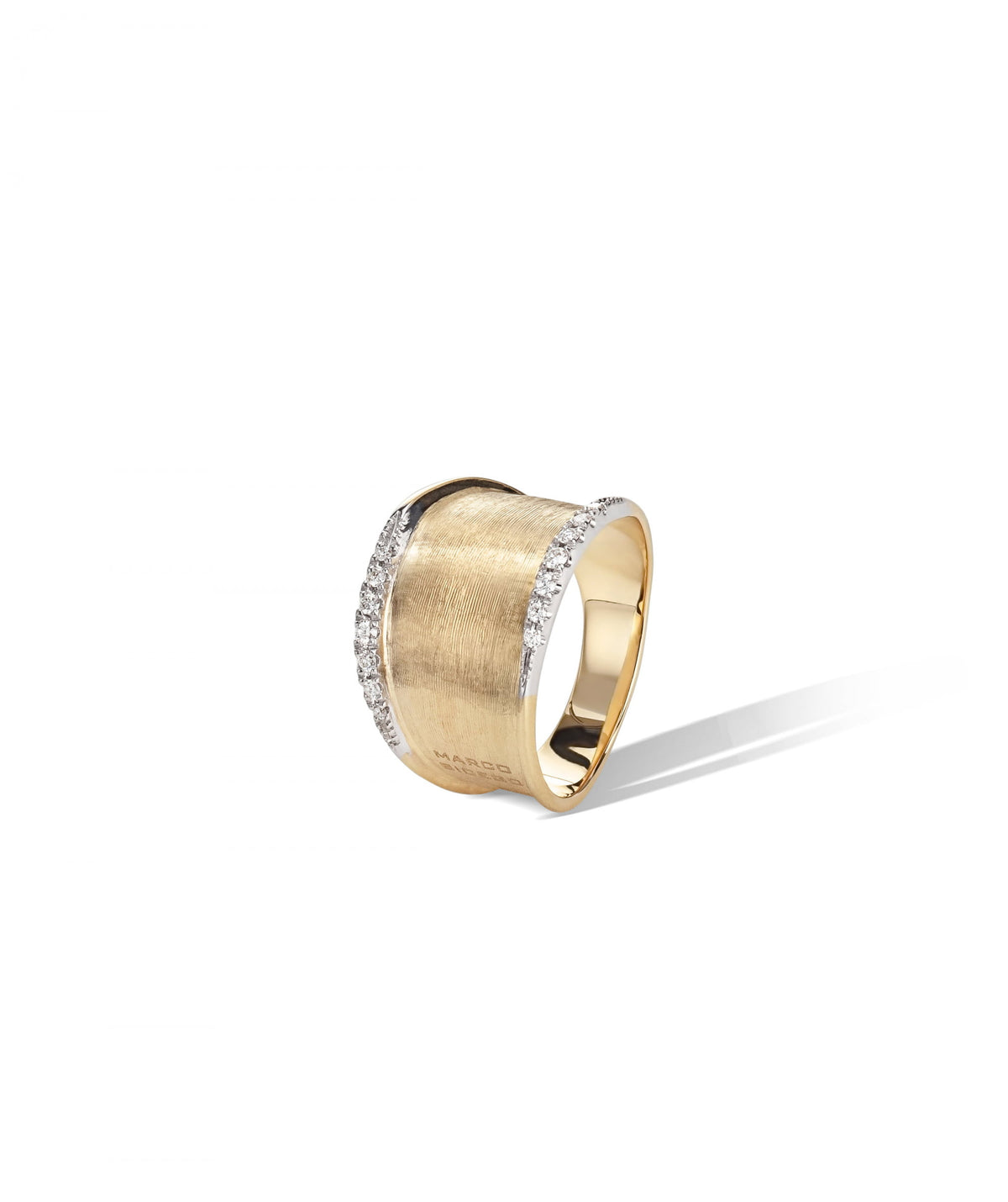 Lunaria Ring in 18k Yellow Gold with Diamonds Medium Band
