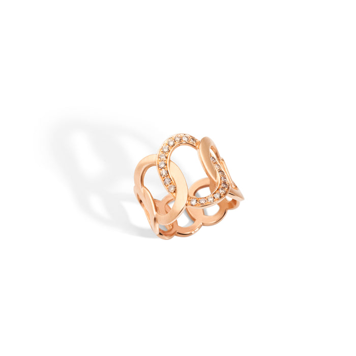 Brera Ring in 18k Rose Gold with Brown Diamonds