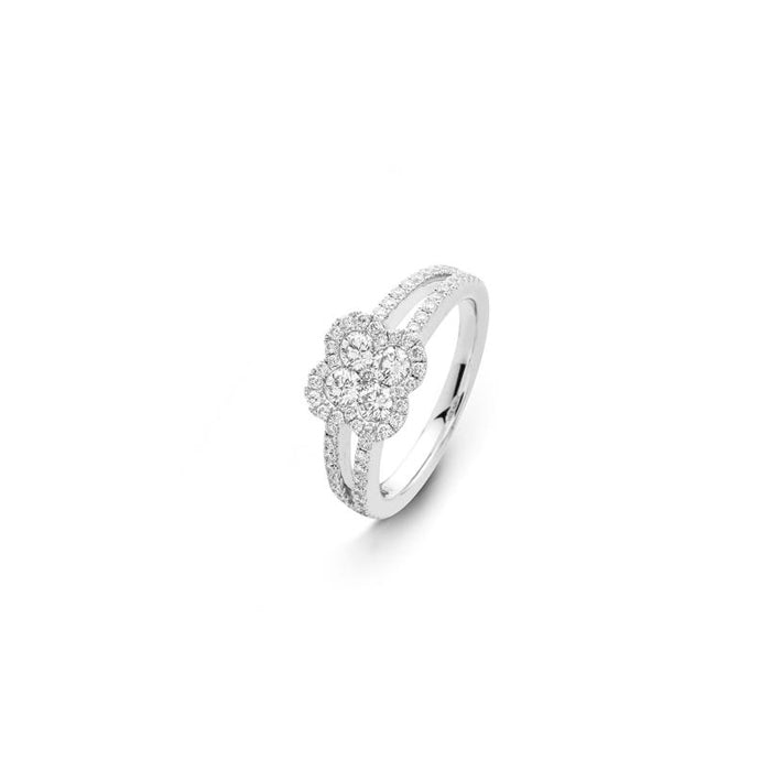 Rondo Round Brilliant Clover Diamond Ring