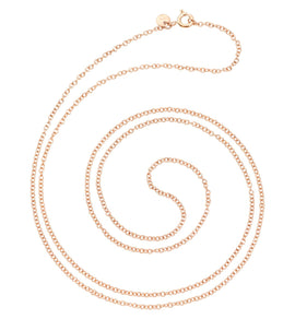 DoDo Necklace Chain in 9k Rose Gold 80cm