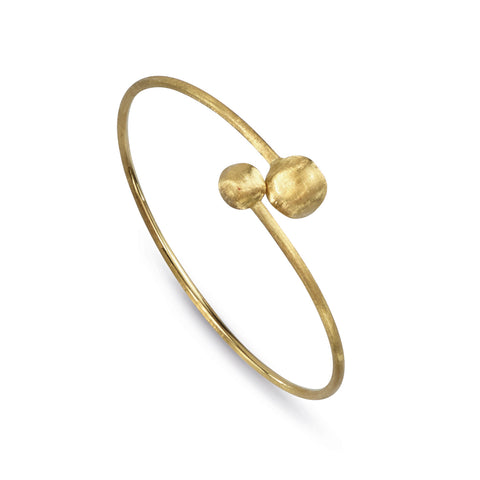 Africa Double Small 18k Gold Ball Overlap Bracelet