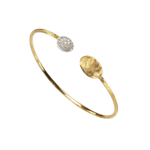 Siviglia Diamond Ball & 18k Gold Ball Bracelet