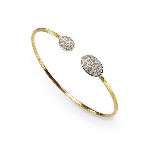 Siviglia Double 18k Gold Ball Diamond Bracelet