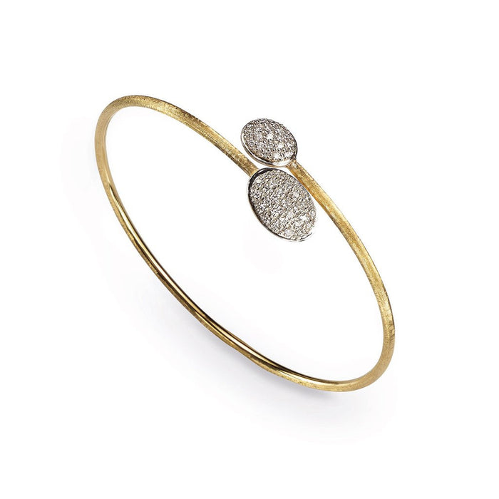 Siviglia Double Diamond Ball Crossover 18k Gold Bracelet