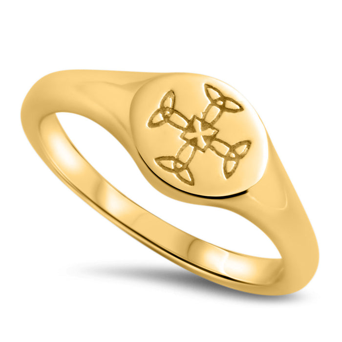 St Cuthbert's 9k Gold Crest Ring