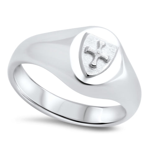 St Cuthbert's Sterling Silver Cross Ring