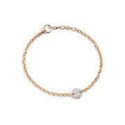 Sabbia Bracelet in 18k Rose Gold with Diamonds