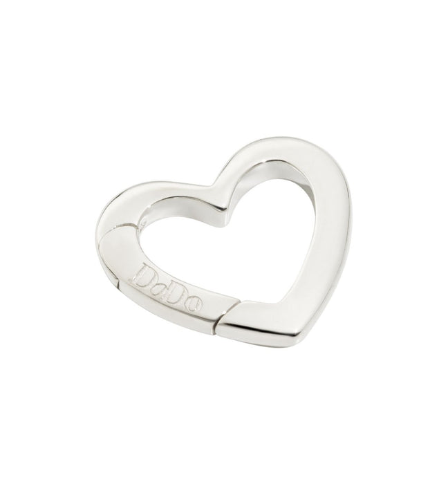 DoDo Heart Clasp in Silver Large