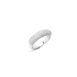 Single Ring in 18k White Gold with Diamonds