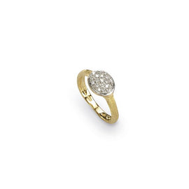 Siviglia 18k Gold Small Horizontal Oval Diamond Ring