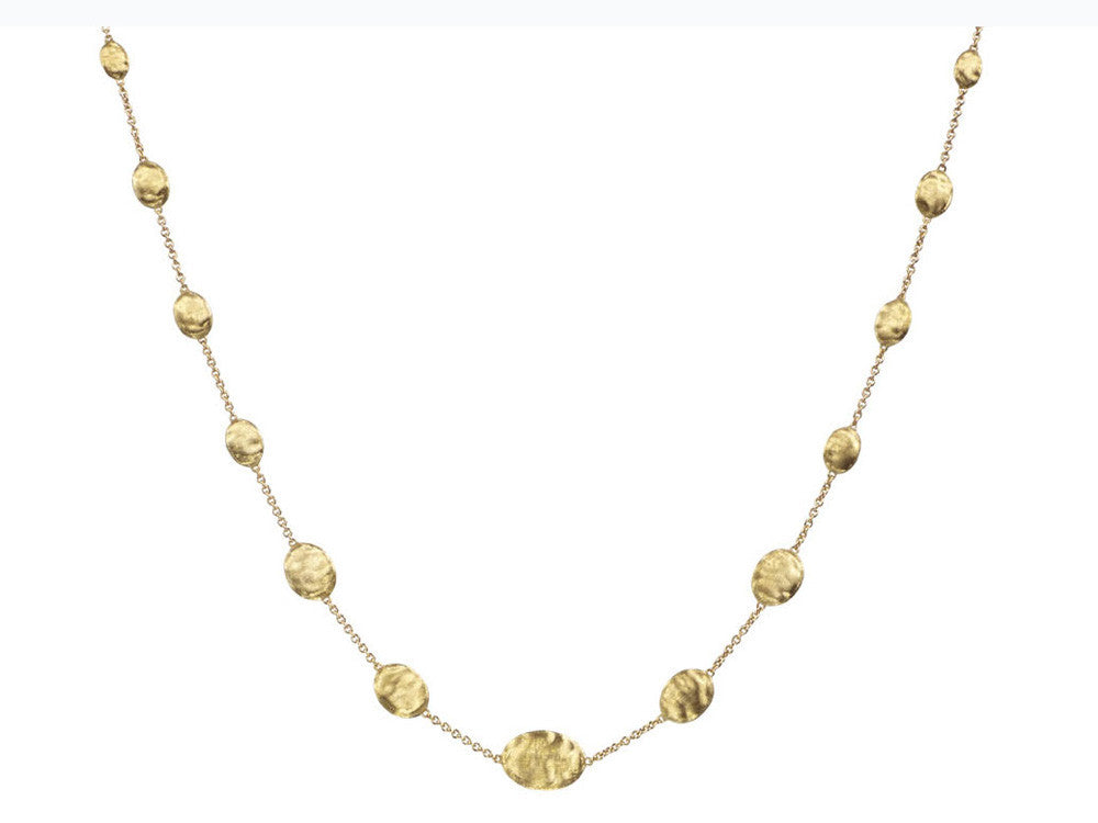 Siviglia Graduaing Oval Gold Ball Necklace