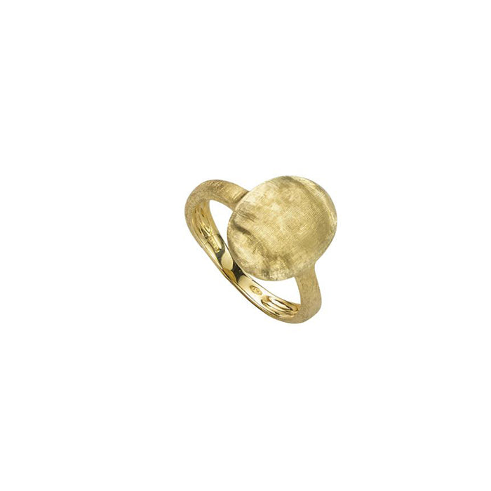 Siviglia Vertical Oval 18k Gold Ring